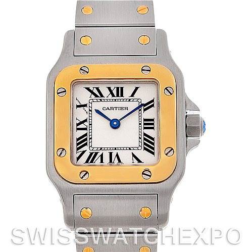 4593 Cartier Santos Ladies Steel 18K Yellow Gold Quartz W20012C4 Watch SwissWatchExpo