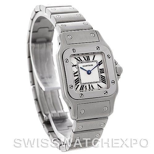 4341 Cartier Santos Galbee Ladies Steel Quartz Watch W20056D6 SwissWatchExpo