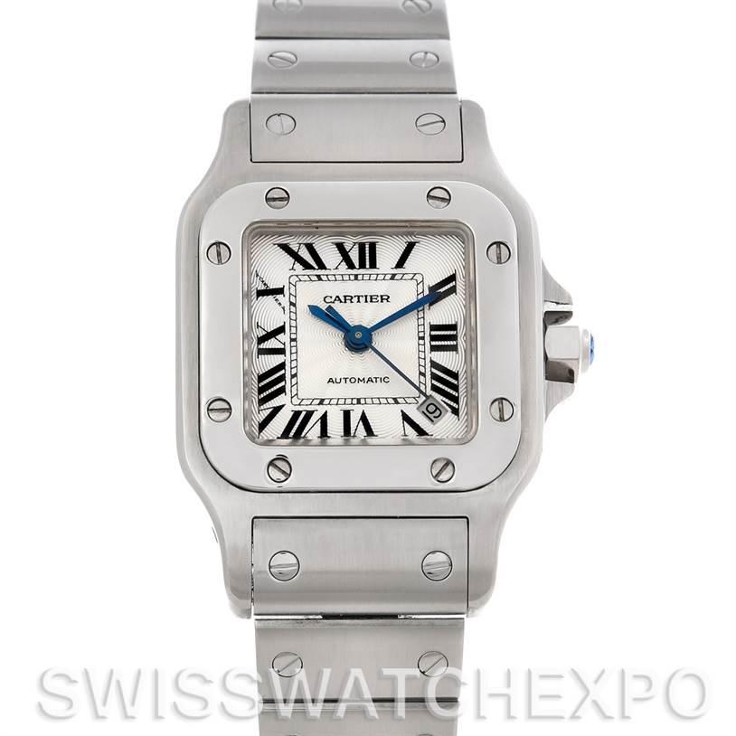 4376 Cartier Santos Galbee Ladies Steel Automatic Watch W20054D6 SwissWatchExpo