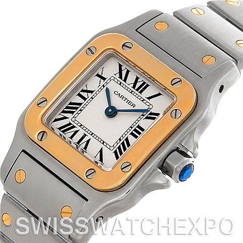 4652 Cartier Santos Ladies Steel 18K Yellow Gold Quartz W20012C4 Watch SwissWatchExpo
