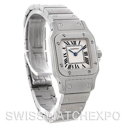 4728 Cartier Santos Galbee Ladies Steel Quartz Watch W20056D6 SwissWatchExpo