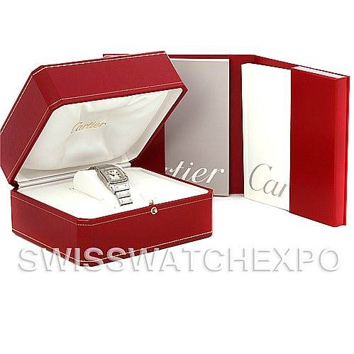 4781 Cartier Santos Galbee Ladies Steel Automatic Watch W20054D6 SwissWatchExpo