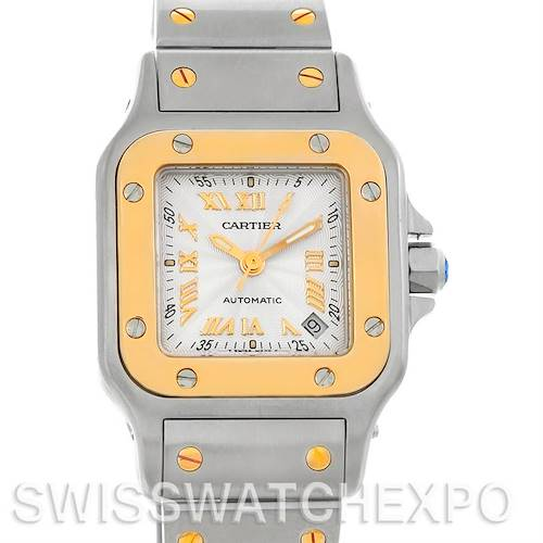 Photo of Cartier Santos Small Steel 18K Yellow Gold Watch W20057C4