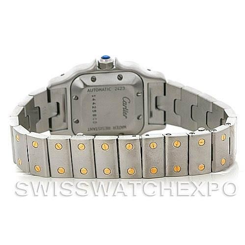 4660 Cartier Santos Small Steel 18K Yellow Gold Watch W20057C4 SwissWatchExpo
