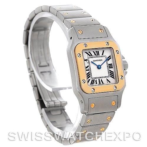 4809 Cartier Santos Ladies Steel 18K Yellow Gold Quartz W20012C4 Watch SwissWatchExpo