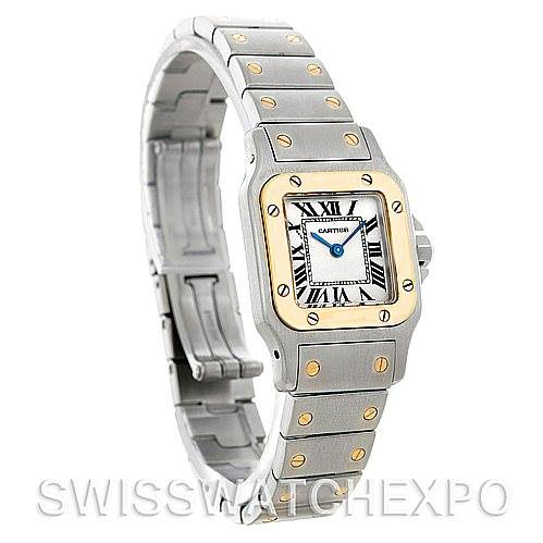 5084 Cartier Santos Ladies Steel 18K Yellow Gold W20012C4 Watch SwissWatchExpo