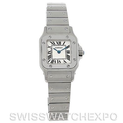 5232 Cartier Santos Galbee Ladies Steel Quartz Watch W20056D6 SwissWatchExpo