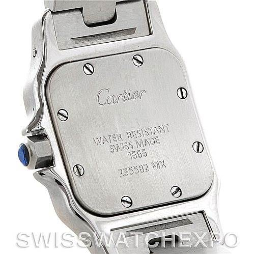 5232 Cartier Santos Galbee Ladies Steel Quartz Watch W20056D6 SwissWatchExpo
