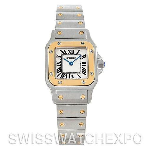5274 Cartier Santos Ladies Steel 18K Yellow Gold W20012C4 Watch SwissWatchExpo