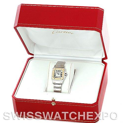 5474 Cartier Santos Ladies Steel 18K Yellow Gold W20012C4 Watch SwissWatchExpo