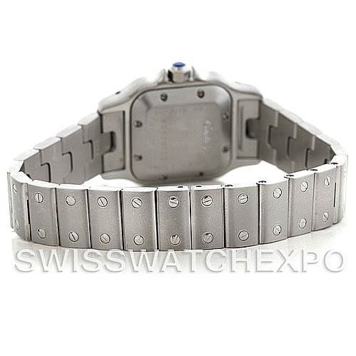 5645 Cartier Santos Galbee Ladies Steel Automatic Watch W20054D6 SwissWatchExpo