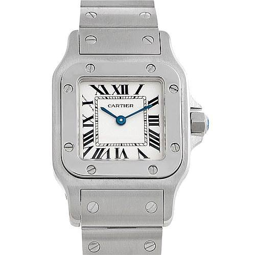 5615 Cartier Santos Galbee Ladies Steel Quartz Watch W20056D6 SwissWatchExpo
