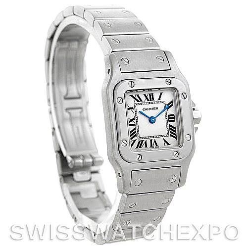 5802 Cartier Santos Galbee Ladies Steel Quartz Watch W20056D6 SwissWatchExpo