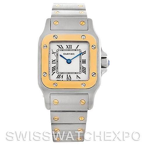 5517 Cartier Santos Ladies Steel 18K Yellow Gold Watch W20012C4 SwissWatchExpo