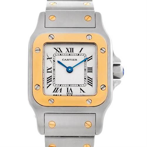Photo of Cartier Santos Ladies Steel 18K Yellow Gold Watch W20012C4
