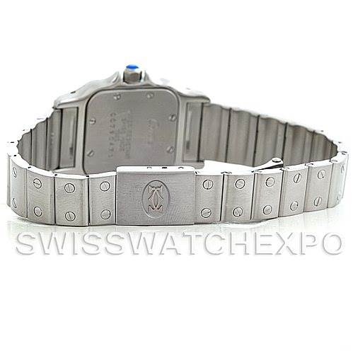 5705 Cartier Santos Galbee Ladies Steel Quartz Watch 1565 SwissWatchExpo
