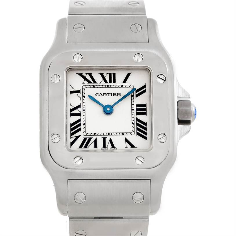 5796 Cartier Santos Galbee Ladies Steel Quartz Watch W20056D6 SwissWatchExpo