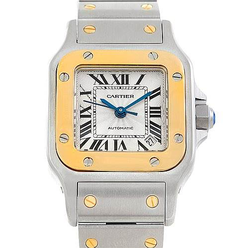 6886 Cartier Santos Galbee Ladies Steel 18K Yellow Gold Watch 2423 SwissWatchExpo