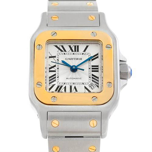 Photo of Cartier Santos Galbee Ladies Steel 18K Yellow Gold Watch 2423