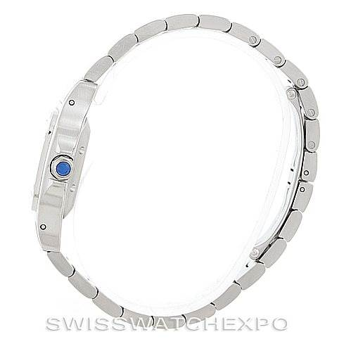 6937 Cartier Santos Galbee Ladies Steel Automatic Watch W20054D6 SwissWatchExpo