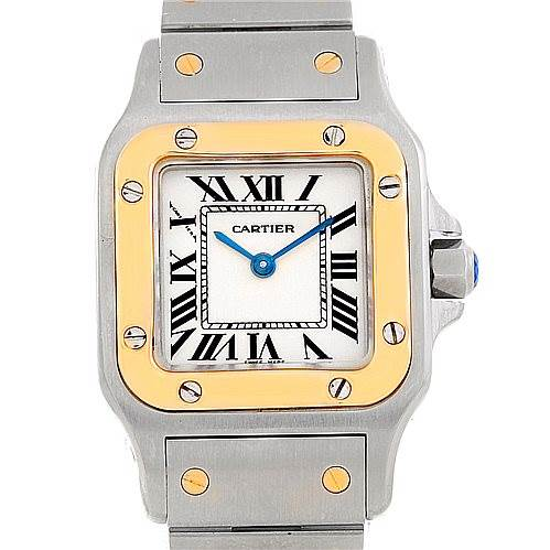 7094 Cartier Santos Galbee Ladies Steel 18K Yellow Gold Watch W20012C4 SwissWatchExpo