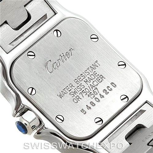 7218 Cartier Santos Galbee Ladies Steel 18K Yellow Gold Watch W20012C4 SwissWatchExpo