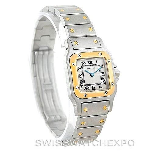 6225 Cartier Santos Galbee Ladies Steel 18K Yellow Gold Watch W20012C4 SwissWatchExpo