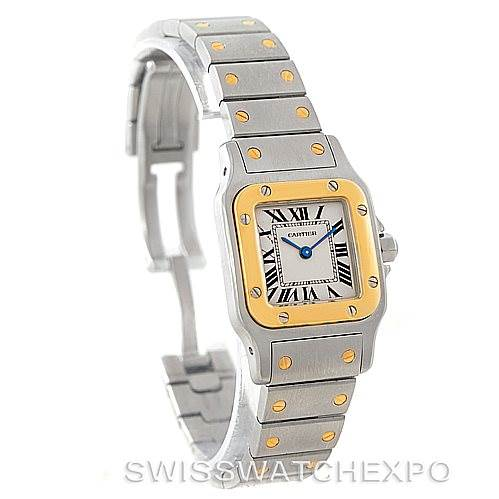 7499 Cartier Santos Galbee Ladies Steel 18K Yellow Gold Watch W20012C4 SwissWatchExpo