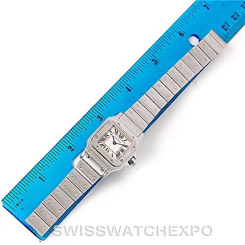 7598 Cartier Santos Galbee Ladies Steel Quartz Watch W20056D6 SwissWatchExpo