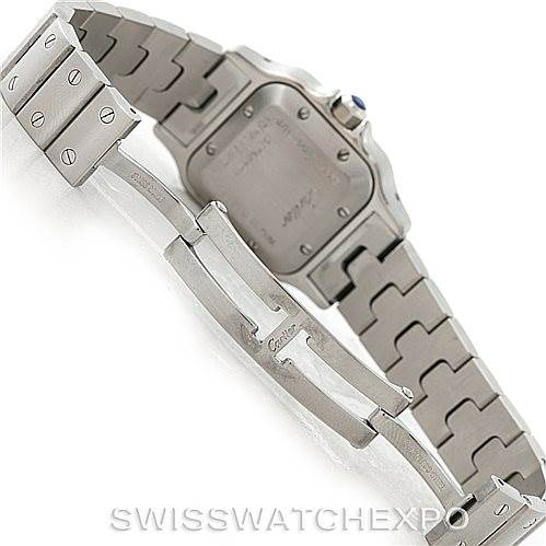 7694 Cartier Santos Galbee Ladies Steel Automatic Watch W20054D6 SwissWatchExpo