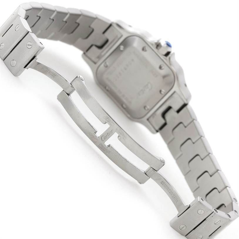 7694 Cartier Santos Galbee Ladies Steel Automatic Watch W20044D6 SwissWatchExpo