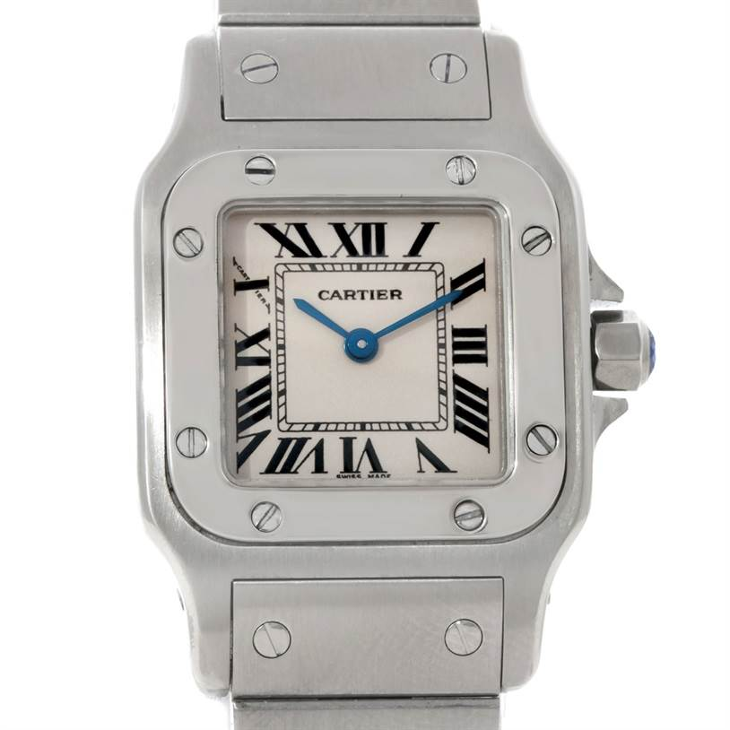 8779 Cartier Santos Galbee Ladies Steel Quartz Watch W20056D6 SwissWatchExpo