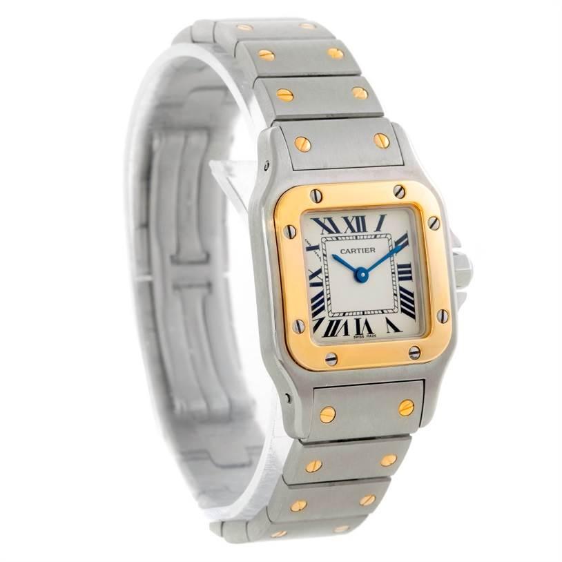 9036 Cartier Santos Galbee Ladies Steel 18K Yellow Gold Watch W20012C4 SwissWatchExpo
