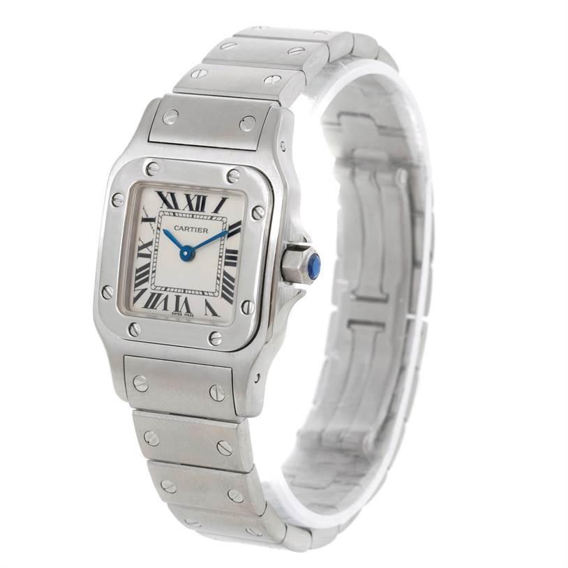 7638 Cartier Santos Galbee Ladies Steel Quartz Watch W20056D6 SwissWatchExpo