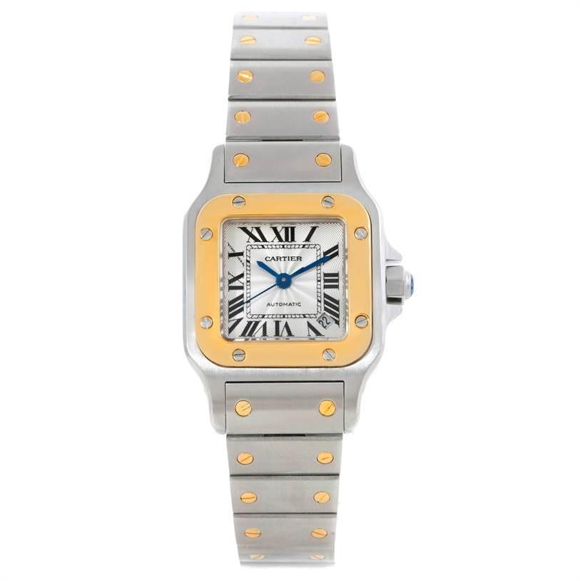 9065 Cartier Santos Small Steel 18K Yellow Gold Watch W20057C4 SwissWatchExpo