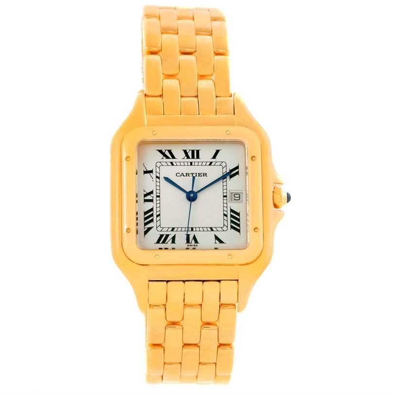 Cartier Panthere Date XL 18K Yellow Gold Watch W25014B9 SwissWatchExpo