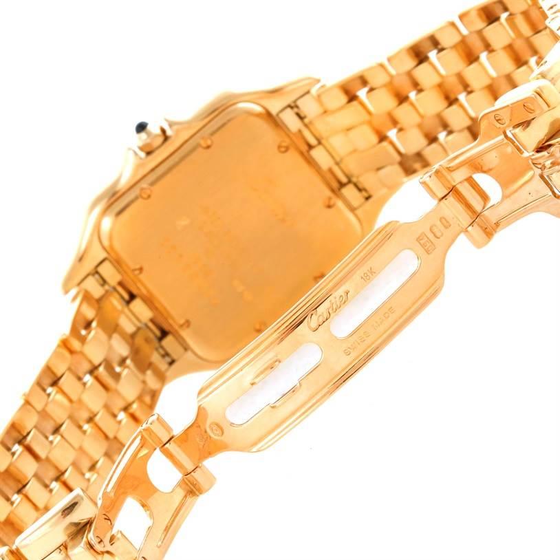 10437 Cartier Panthere Date XL 18K Yellow Gold Watch W25014B9 SwissWatchExpo