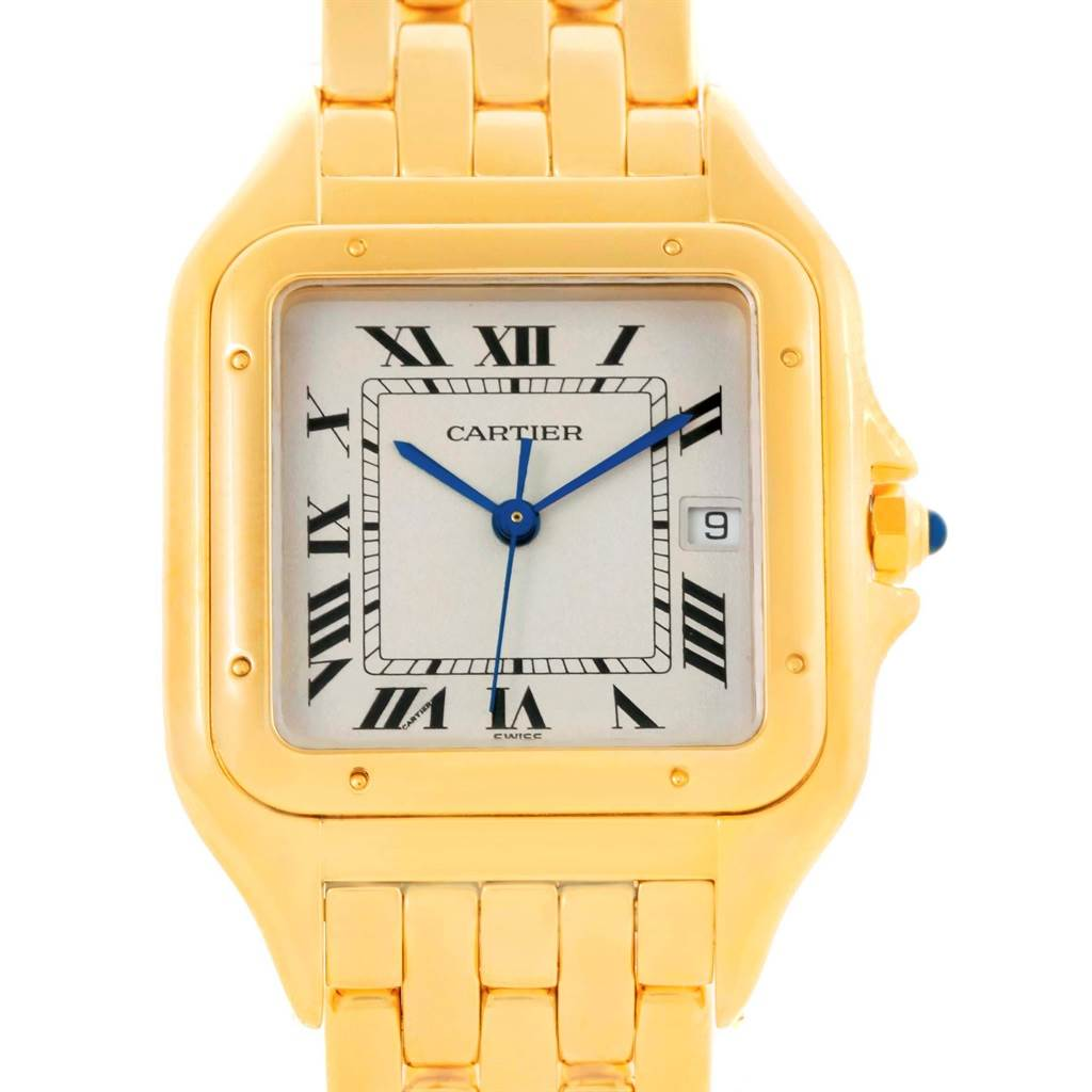 10430 Cartier Panthere Date XL 18K Yellow Gold Watch W25014B9 SwissWatchExpo