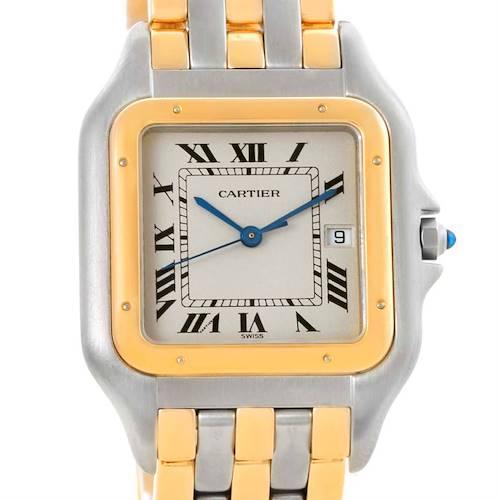 Photo of Cartier Panthere Jumbo Steel 18K Yellow Gold Three Row Watch