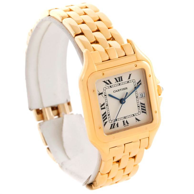11278 Cartier Panthere XL 18K Yellow Gold Date Quartz Watch W25014B9 SwissWatchExpo