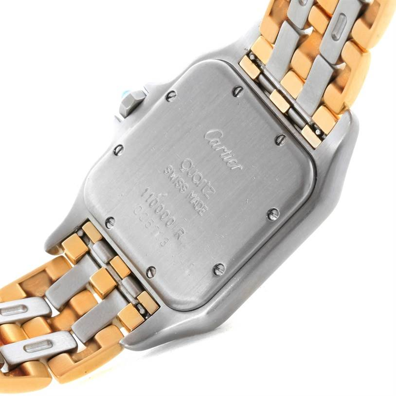 8741 Cartier Panthere Large Steel 18K Yellow Gold 3 Row Watch W25028B8 SwissWatchExpo