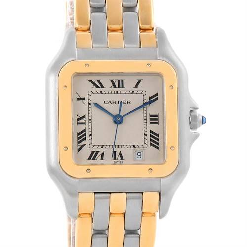 Photo of Cartier Panthere Large Steel 18K Yellow Gold 3 Row Watch W25028B8