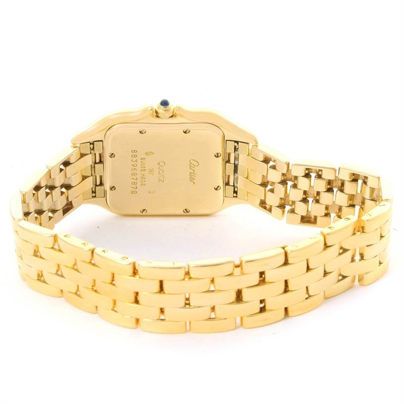 11573 Cartier Panthere XL 18K Yellow Gold Date Quartz Watch W25014B9 SwissWatchExpo