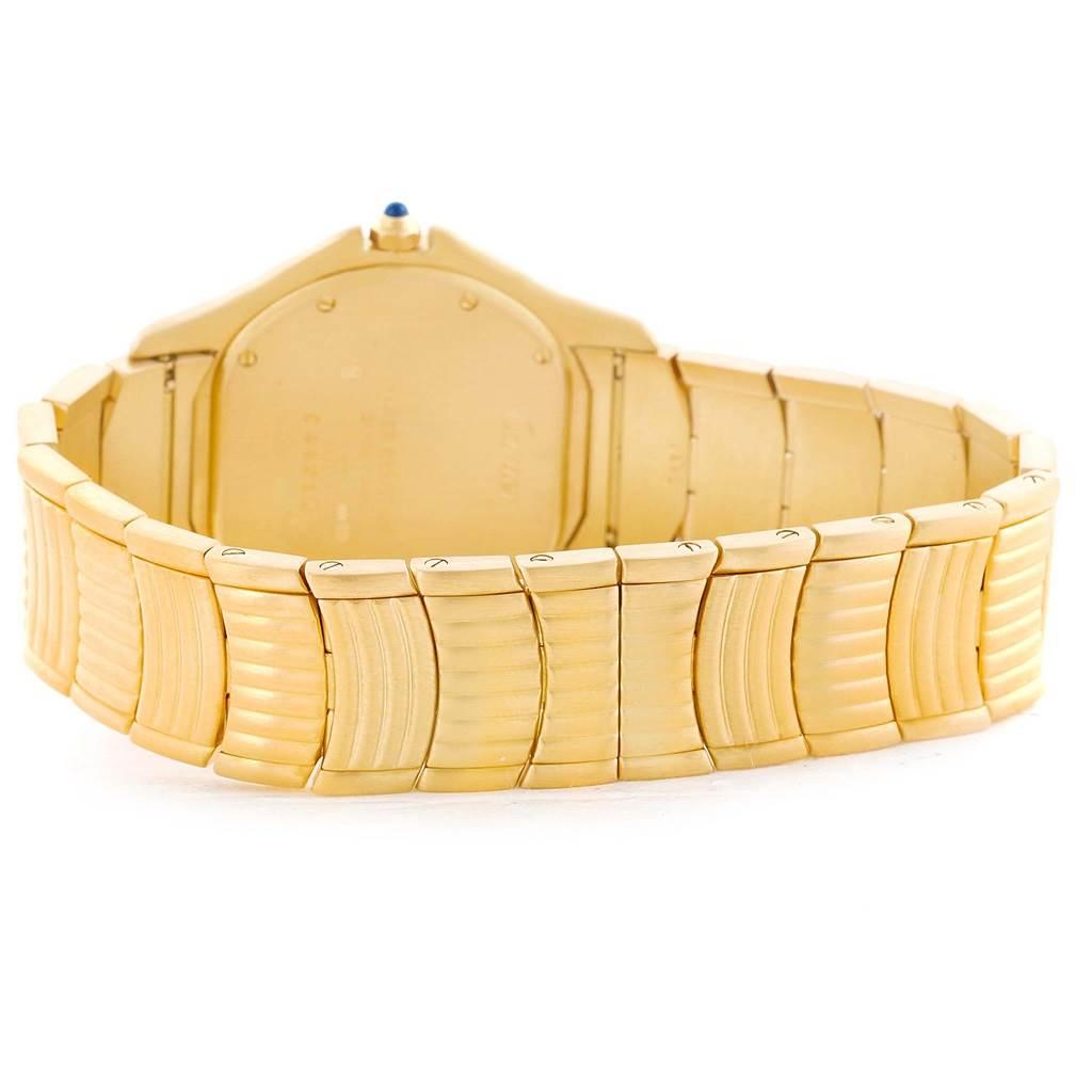 Cartier Cougar 18K Yellow Gold Diamond Blue Dial Watch 11651 SwissWatchExpo