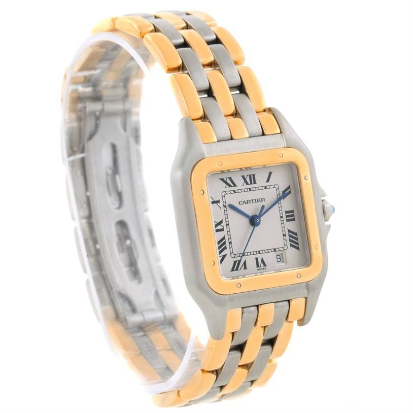 8845 Cartier Panthere Large Steel 18K Yellow Gold 3 Row Watch W25028B8 SwissWatchExpo