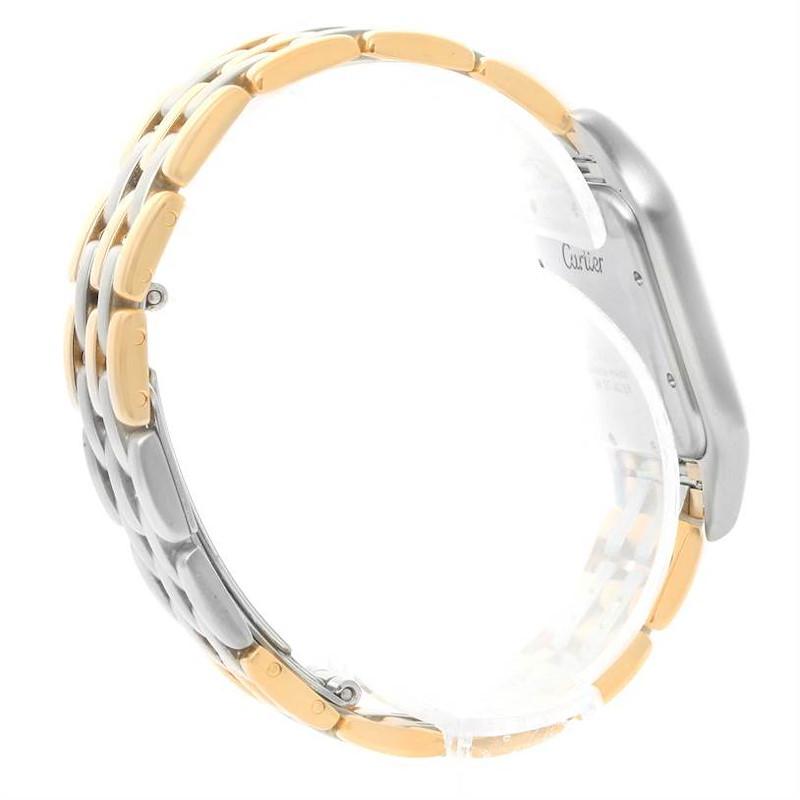 Cartier Panthere Jumbo Steel 18K Yellow Gold Three Row Watch SwissWatchExpo