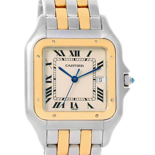 Photo of Cartier Panthere Jumbo Steel 18K Yellow Gold Two Row Watch