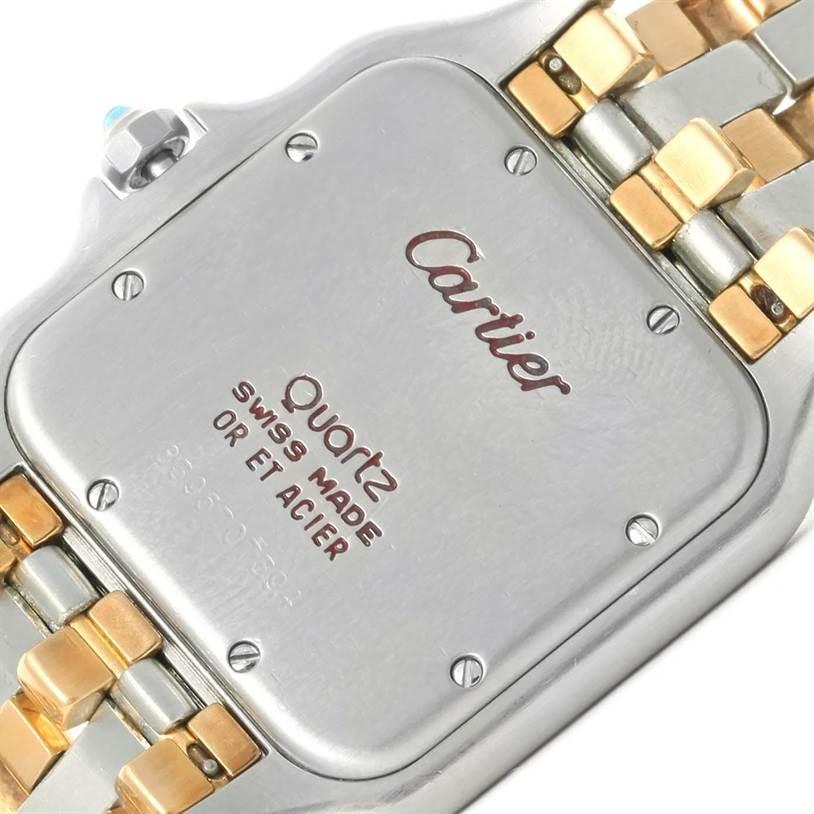 Cartier Panthere Jumbo Steel 18K Yellow Gold Three Row Unisex Watch SwissWatchExpo