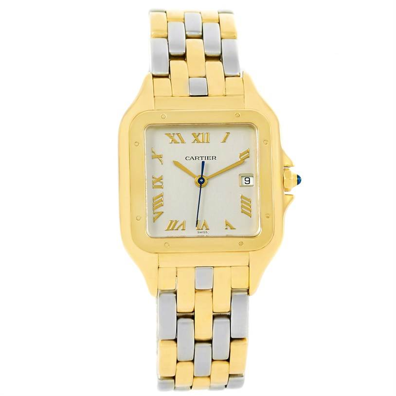 Cartier Panthere Jumbo Steel 18K Yellow Gold Special Edition Watch SwissWatchExpo