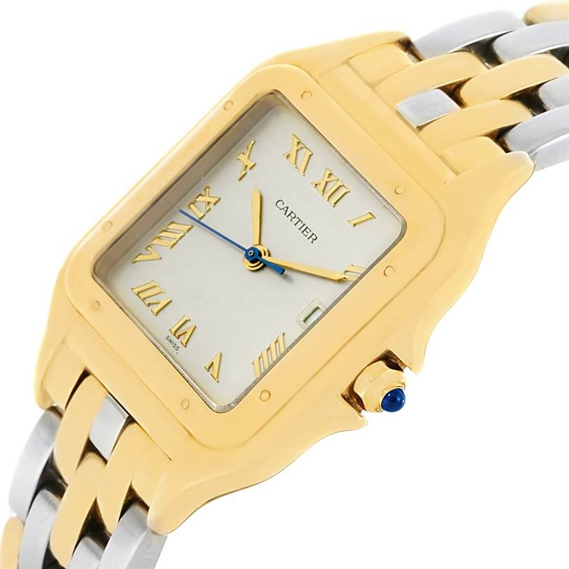 13191 Cartier Panthere Jumbo Steel 18K Yellow Gold Special Edition Watch SwissWatchExpo
